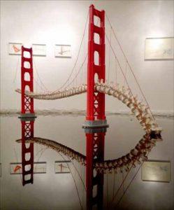 Sculpture - colonne vertebrale